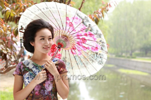 Lady Grace Gift Chinese Culture Element Oiled Paper Craft Umbrella