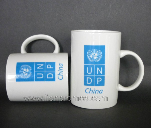 United Nation Logo Imprinted Procelain Coffee Mug
