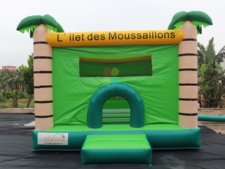 Small Outdoor Inflatable Forest Theme Bouncer Jumping House for Kids