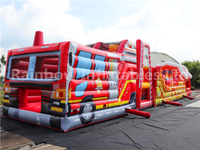 RB5203(20x4x5m) Inflatable Fire truck long obstacle courses equipment