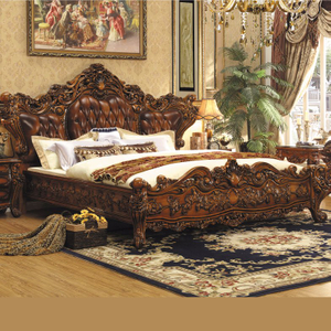 Wooden Bed for Bedroom Furniture Set (A05)