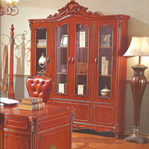 Home Office Furniture with Wooden Table and Bookcase Cabinet
