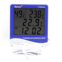 Indoor / Outdoor Hygro-Thermometer Clock TH802A