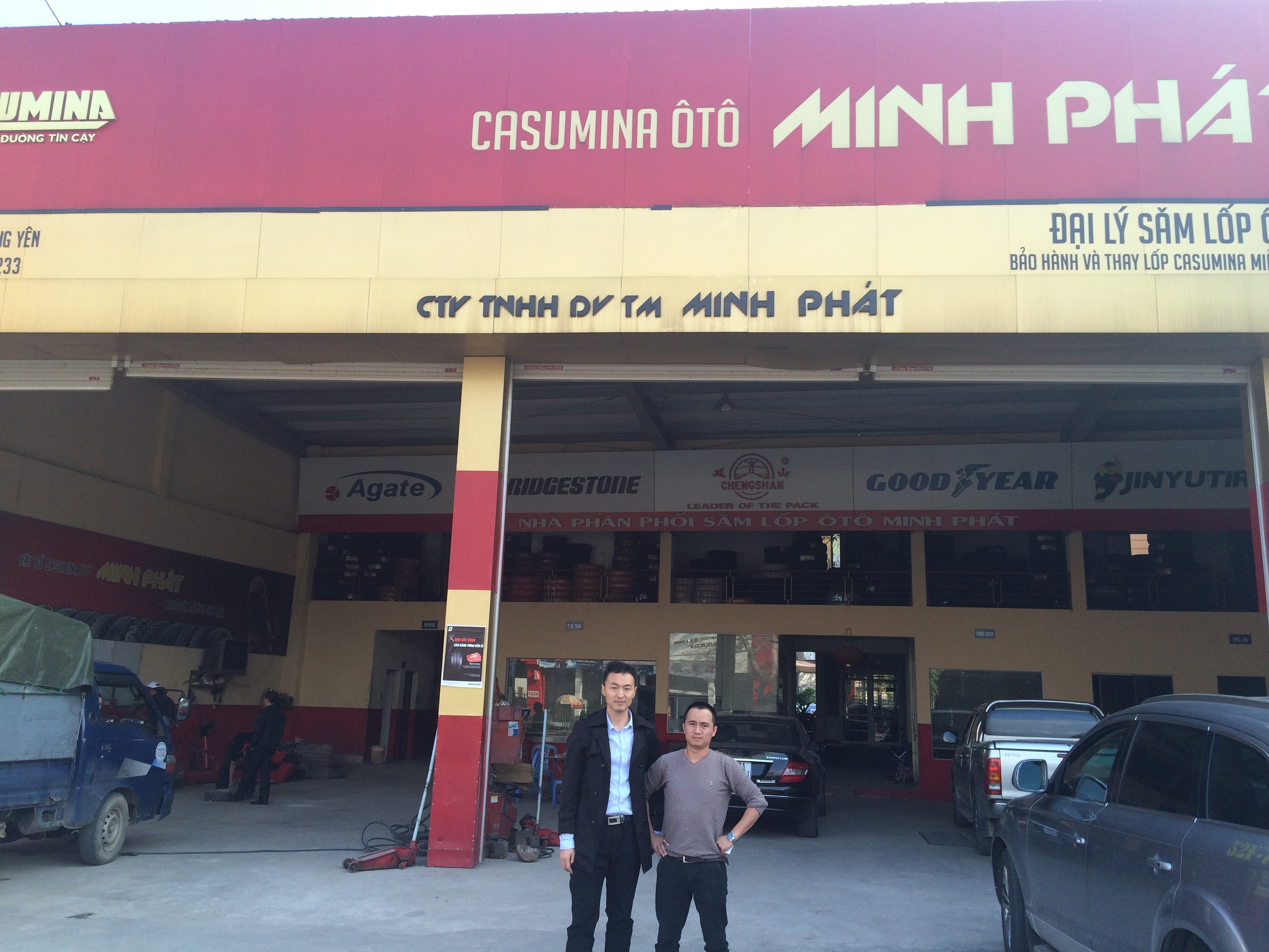 Alpina Tyre Visit Vitenam Partners On Dec.2015.