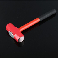 Plastic Spraying Package Plastic Handle Forging Octagon Hammer