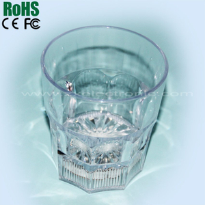 Led light liquid activated shot glass