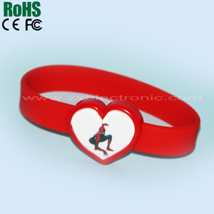 colorful flash silicone bracelet