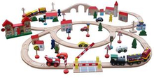 89 PCS Wooden Train Set