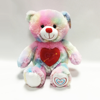 Customized Colorful Plush Stuffed Bear for Valentines