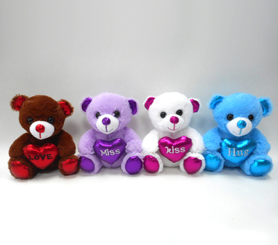 Custom Promotion Plush Toy Small Teddy Bear Toy with Heart