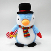 Super Soft Stuffed Blue Plush Penguin With Hat And Scarf