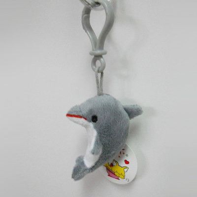 Custom Soft Plush Dolphin Toy Keychain