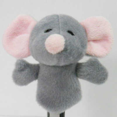 Plush Stuffed Toy Mouse Finger Puppet for Kids