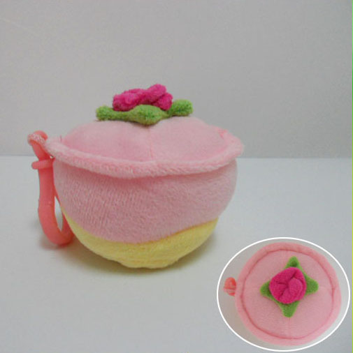 Top Quality China Toy Factory Super Soft Mini Cake Keychain