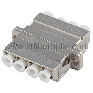 Multimode Quad LC Fiber Optic Adapter