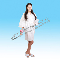 Virgin material Disposable Nonwoven SMS Sauna Kimono