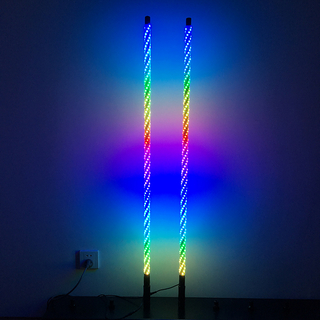 4ft Dream color up and down LED lighted whips