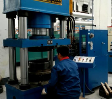 Foot ring hydraulic forming machine