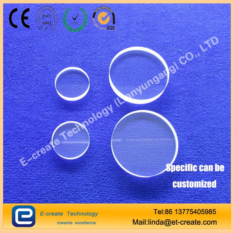 Jgs3 Material Clear Quartz Round Plate for Sale