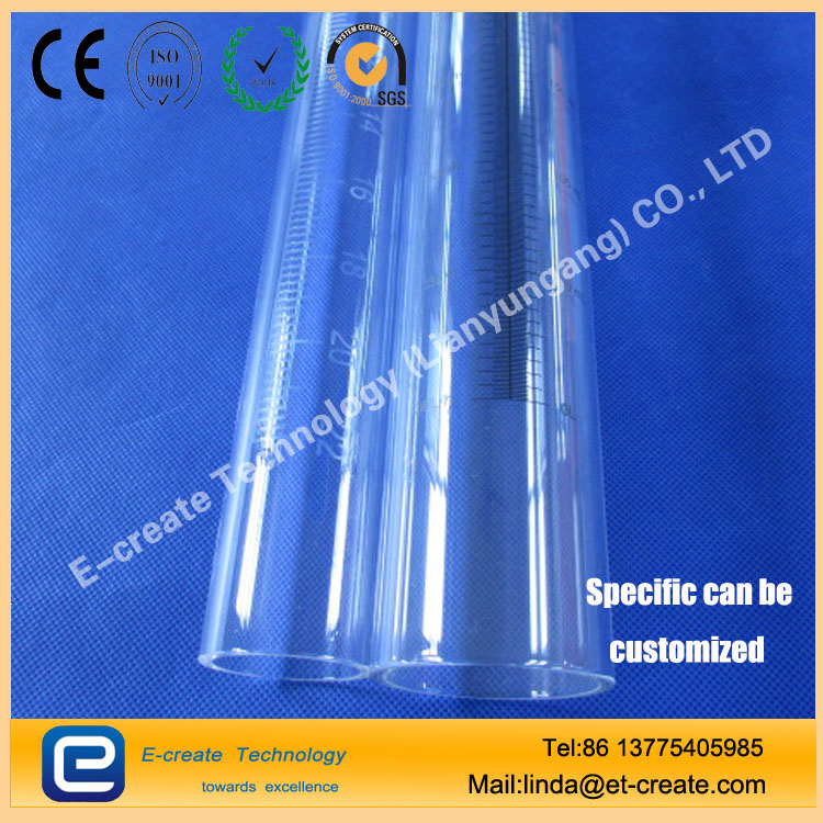 Transparent quartz tube, silk screen quartz tube, quartz tube scale, sand blasting quartz tube