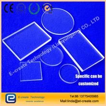 JGS2 quartz chip high temperature quartz glass plate high purity optical quartz film far ultraviolet quartz board