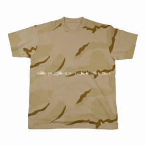 1308-1 Combed Cotton Deset Camouflage T-Shirts