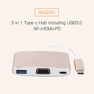 3 in 1 Type c Hub including usb3