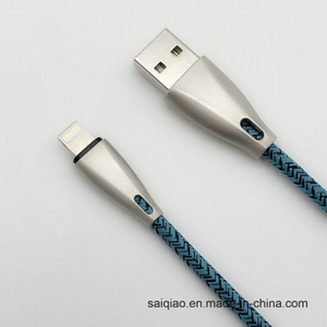 Factory Direct Sale Lightning Charging Data Cable with Zinc Alloy