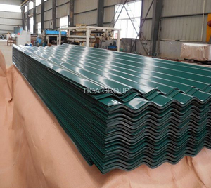 Corrugated PPGI PPGL Metal Roofing Trapezoidal Steel Sheets Glazed Roof Tile