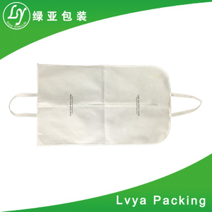 Custom printed breathable non woven garment suit cover bag with double handles for men
