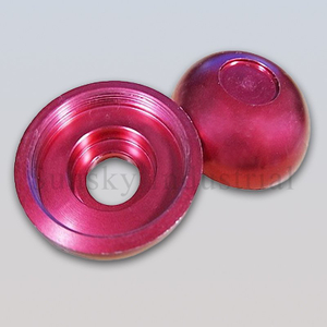anodized aluminium threaded part (AL13137)