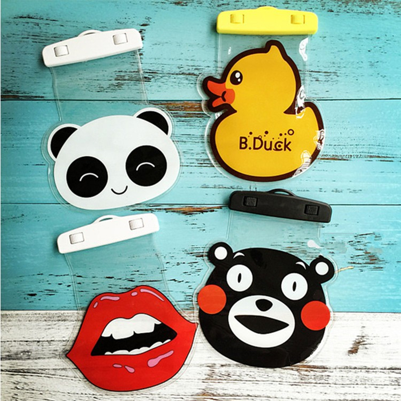 Cartoon Universal Waterproof PVC Waterproof Pouch Bag Cover Case for Cellphone