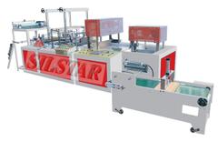 GBZD-600 Four-folded flat &t-shirt bag making machine
