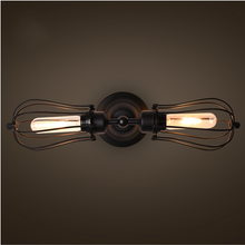 Loft rustic iron lighting sconce warehouse light
