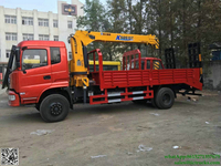 DRZ 4x2 chufeng lorry truck mounted crane 6T telescopic boom Hydraulic ladder