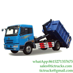 12cbm FAW hooklift 220HP roll off garbage truck