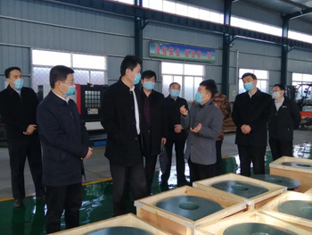 Gao Xin, Secretary of the Discipline Inspection Commission of the Tengzhou Municipal Committee of Tengzhou City, visited Shandong Shenxin Group for inspection and guidance