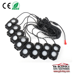 APP bluetooth RGB LED Rock Lights 8 pods kits for Jeep Truck ATV SUV Car Boat