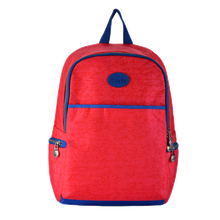 Red school backpack for girls
