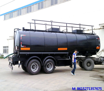 Crude oil Asphalt tanker 2 axles trailer