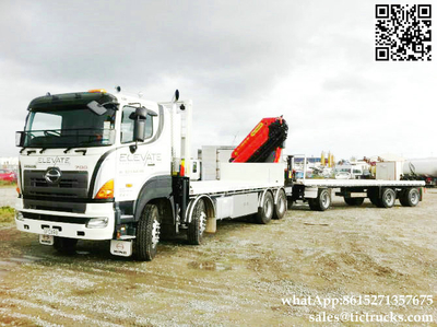 HINO 700 8x4 truck mounted crane Palfinger cranes 30T.m