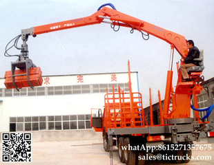 Truck mounted Special Timber Grab on Truck Mounted Crane Delivery Timber, Scrap Metal