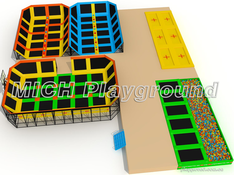 Mich indoor trampoline park design for amusement 3512b for Indoor trampoline park design manufacturing