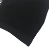 3 ply black cotton knitted silver ion custom printed face masks