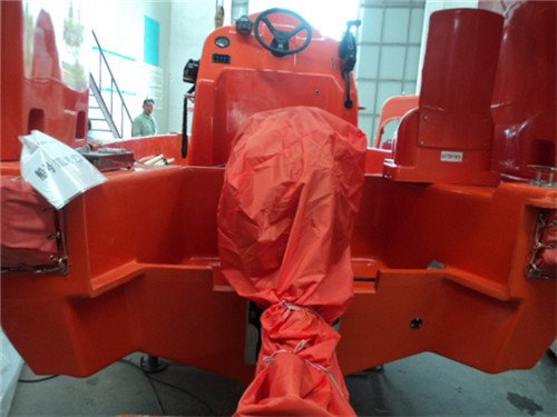 Fast Rescue Boat with outboard engine