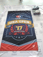 Apply for 250gsm Polyester Fabric Banner with Heat Transfer Printing
