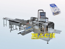 Automatic Multiple Toilet Tissue Paper Rolls Bundling Machine