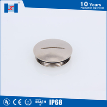 Circle brass screw cap