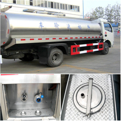 Dongfeng 8CBM milk tank truck insulated milk truck Stainless Steel tanker Euro 4