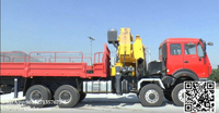 Beiben 8x8 off road Truck loading crane mounted 25T XCMG
